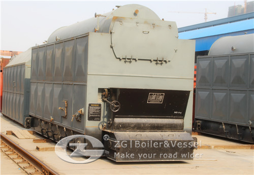Chain grate steam boiler for AAC plant