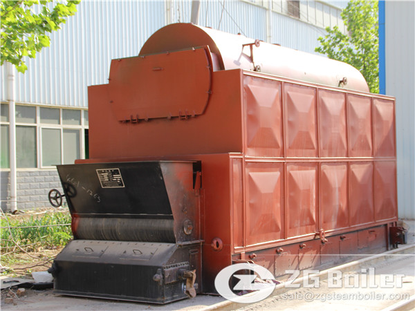 8 ton DZL chain grate steam boiler for sale