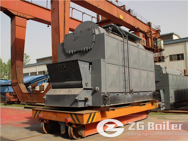 Higher efficiency DZL chain grate steam boiler in Russia