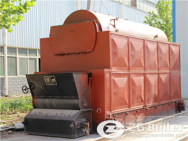 2 ton DZL biomass fired chain grate steam boiler for sale