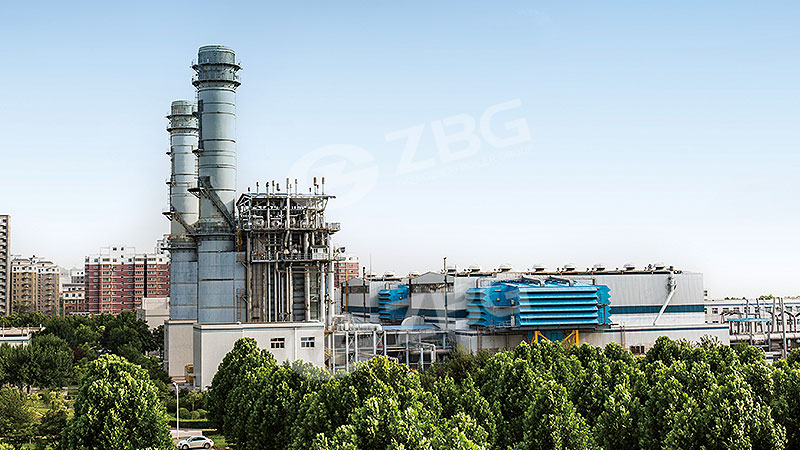 Gas power plant boiler for thermal plant