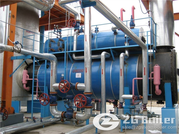 Three castoff mix burning and blown gas waste heat boiler for sale to Pakistan